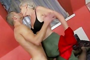 hawt granny enjoys sex with youthful man