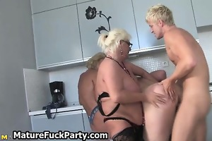 filthy mature whore having group sex