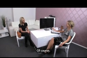 femaleagent. assistant cameraman receives in on