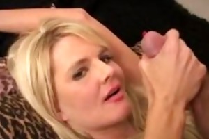 blonde mother i blows weenie and receives facial