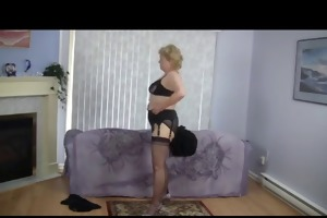 granny does striptease