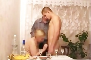 mommy participates in sexy three-some after part1