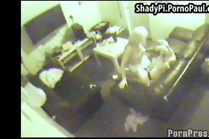 security camera film golden-haired