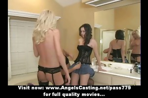 beautifull hot lesbo gals fingering and bawdy