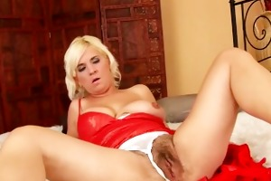 chunky aged acquires her bush drilled