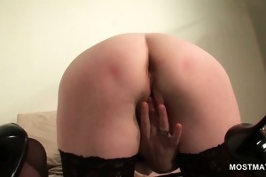 blond aged in hawt booty masturbating cunt with