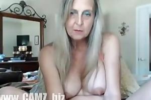 sexy granny with vibrator non-professional -