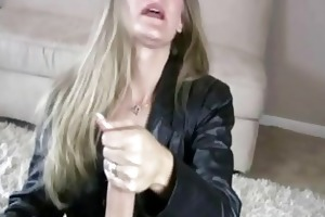 milf sara james give hand job to large schlong