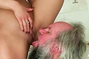 cutie punishing and fucking a grandad
