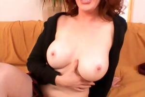 redhead mamma engulfing and fucking