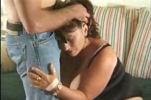 aged big beautiful woman housewife joined