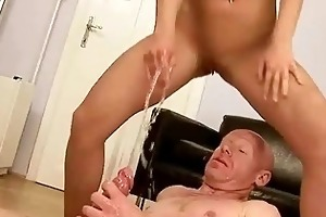 old man fucking and peeing on juvenile hotty