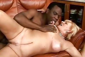 breasty granny fucking with her dark paramour