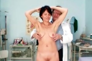 slender milf weird slit fingering by gyno doctor