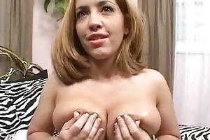 large breasted blond mother i chick slurps on big