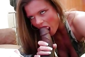 lewd blonde bitch wife slurps on violent bbc