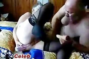 non-professional grand-dad and granny pose fuck