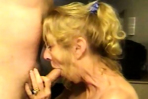 blonde aged wife t live without jizz
