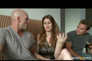 cheating big-tit redhead wife floozy copulates
