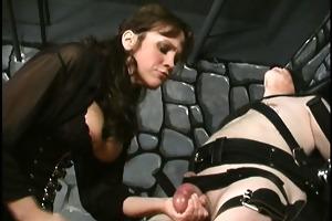 bizarre aged non-professional dominatrix