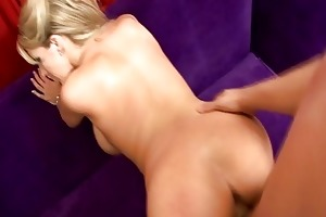 ravishing blond milf roughly screwed from behind