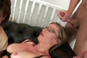 older nylons wench receives a ejaculation