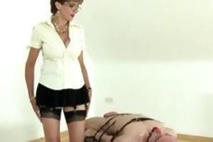 dominant-bitch jerking off infirm chaps schlong