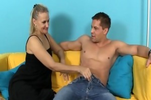 horny mother i strokes a ramrod