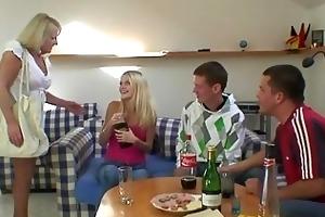 partying guys screw drunk granny
