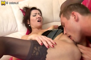 hot older mamma drilled by her juvenile lad