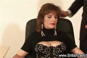 classy lady sonia receives a ejaculation