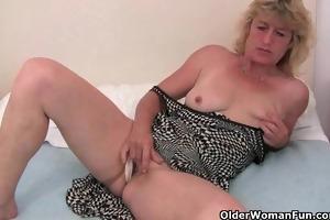 granny in heat finger copulates her old wet crack