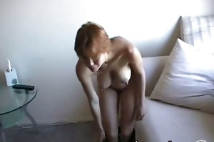 geeky housewife with biggest milk sacks fingers