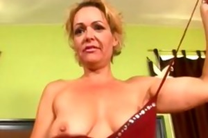 hawt mother i seduces a lad with her curly pussy