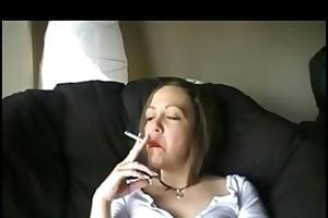 aged smokin a cigarette