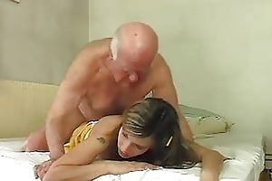 sexy blond bunny shags with old older hunk