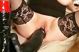 monster fake penis fucking non-professional slut