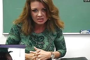 breasty mother i teacher masturbates in hot