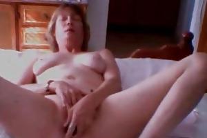 47 years divorced mother monique masturbates on