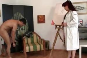 concupiscent lady jumps on fresh pecker