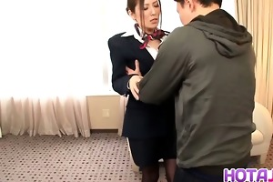 sexy japanese stewardess yuna shiina in hardcore