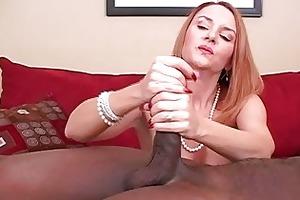 aged dilettante wife interracial cuckold handjobs
