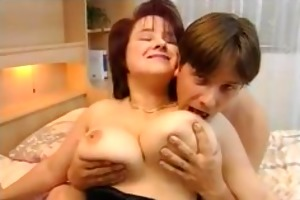 breasty european housewife drilled hard