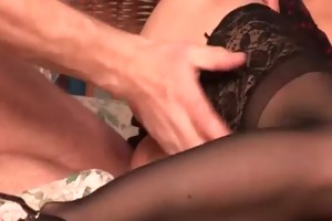 excellent hottie in nylons acquires fucked