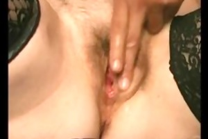 horny granny receives overspread in sperm