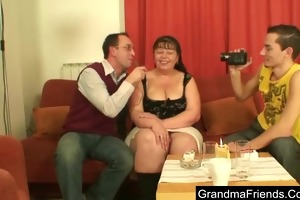 fat aged pornstar gives interview