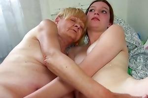 admirable old granny teaches nice angel masturbate