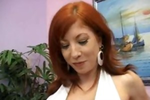 fiery redhead mommy with bigboobs engulfing part3