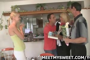 nasty angel have fun with her boyfriends parents