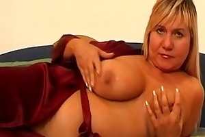 large titted older bonks herself